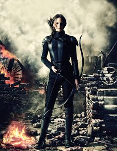 New promotional image of Katniss Everdeen in Mockingjay Part 1