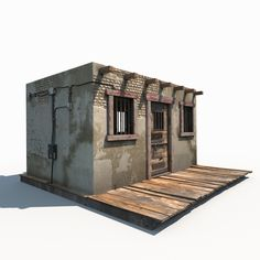 Buy Western Jail Low Poly by Cerebrate on A model of Old Wild West Jail building. Product's features: - Originally created with Max 2014 - Max file with. 3d Modellierung, Town Drawing, Old Western Towns, Modelos 3d, Small Buildings, Le Far West, Native American History, Barn Quilts, Thing 1