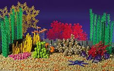 Underwater inspiration: Australia's Great Barrier Reef, in Queensland, is among the world treasures made out of Lego for the book