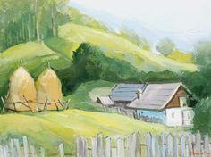 Andrei Branisteanu  - Peisaj la Albac Painting, Art, Photo Illustration, Art Background, Painting Art, Kunst, Paintings, Performing Arts, Painted Canvas