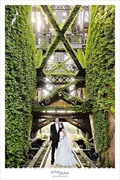 Wedding image on bridge next to Shooters 1148 Main Avenue  Cleveland, OH 44113