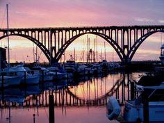 South Beach Marina and Yaquina Bay Bridge--Newport, Oregon