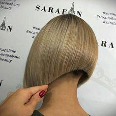 A gorgeous angled bob I'd love to see on a pretty boy of mine someday.