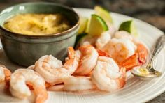 Shrimp with Pineapple-Ginger Dipping Sauce // Sweet, spicy and tangy! #pink #spring #recipe