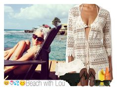 """""""Beach with Lou"""" by sophie-188 ❤ liked on Polyvore featuring Victoria's Secret PINK, Melissa Odabash, River Island, Alterna and Ray-Ban"""