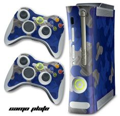 XBOX 360 Console Blue Camo Design Decal Skin - System  Remote Controllers - CamoPlate - Blue $12.97 Amazing Discounts Your #1 Source for Video Games, Consoles  Accessories! Multicitygames.com Click On Pins For More Info