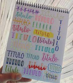Bullet Journal School, Bullet Journal Titles, Bullet Journal Banner, Journal Fonts, Bullet Journal Aesthetic, Bullet Journal Notebook, Bullet Journal Inspiration, Journal Art, Lettering Tutorial