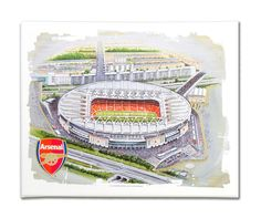 Wall murals wallpapers and murals on pinterest for Emirates stadium mural