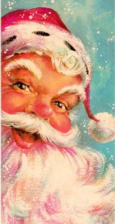Merry Christmas! | This is how I remember Santa looking, in my childhood memories...except he had twinkly blue eyes.