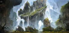 Gibbon Rock, Bram Sels on ArtStation at https://www.artstation.com/artwork/gibbon-rock