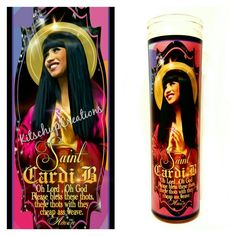 Cardi B Prayer Candle
