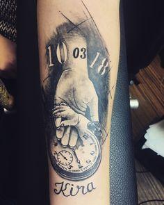 Boyzs Tattoos For Baby Boy, Family Tattoos For Men, Daddy Tattoos, Father Tattoos, Tribal Tattoos For Men, Tattoo For Son, Tattoos For Daughters, Life Tattoos, Body Art Tattoos