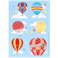 Hot Air Balloon Party Sticker Sheets from BirthdayExpress.com