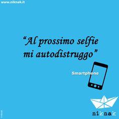 Citazioni divertenti di oggetti: smartphone. | Funny quotes | Funny graphic