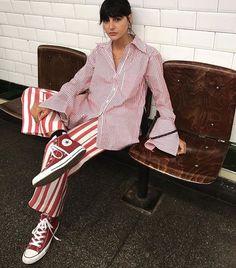 The Classy Issue Pink Fashion, Fashion 2020, Fashion Outfits, Womens Fashion, Fashion Trends, Stripes Fashion, Emo Fashion, Ladies Fashion, Fashion Tips