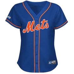 New York Mets Women's Alternate Replica Jersey- if someone bought me this, I wouldn't be mad. Jus' sayin'....