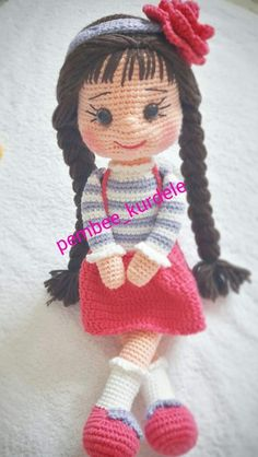 Gorgeous Amigurumi Dolls Love this sweet travelling doll crochet amigurumi pattern! And I'm so impressed by the lovely amigurumi doll patterns that are a Yazıyı Oku… Make your child your own toy … my the is Doll Dress Baby Knitting Patterns, Crochet Animal Patterns, Crochet Doll Pattern, Doll Patterns, Clothes Patterns, Crochet Doll Clothes, Knitted Dolls, Crochet Dolls, Crochet Eyes