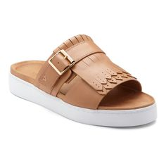 7f9a44e4fb9d Women s Vionic with Orthaheel Technology Fillmore Slide - Tan Leather  Sandals