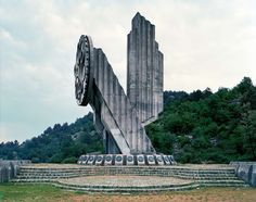"""Niksic -  Socialist Republic. In the 1980s, these monuments attracted millions of visitors per year, especially young pioneers for their """"patriotic education."""" After the Republic dissolved in early 1990s, they were completely abandoned, and their symbolic meanings were forever lost."""