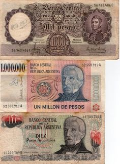 Pesos and dinero.