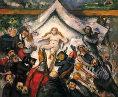 Paul Cézanne.  Das Ewig-Weibliche. Um 1877, Öl auf Leinwand, 43 × 53 cm. Privatsammlung. Frankreich. Postimpressionismus.  KO 01060