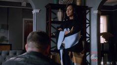 Olivia Pope's Black Sandro Aurela Scarf from Scandal - Season 5 Episode 12 | TheTake