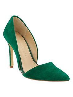 Adelia D'Orsay Pump Banana Republic Emerald heels shoes