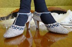 Luxury Rhinestones Evening Shoes, antique shoes, flapper, charleston, 1920s