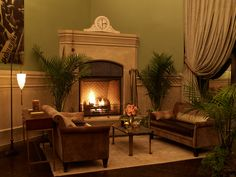 Club Room Fire Place