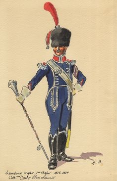 French; 1st Light Infantry, Drum Major 1813-14  b H.Boisselier