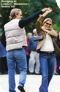Princess Madeleine and old boyfriend Erik Granath in Hyde Park, London in 2002.