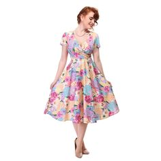 Collectif JADE WATERMELON Fruity Tropical Vintage Pin Up SWING Dress Kleid Rocka