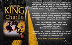 Charlie de Stephen King, une petite fille aux pouvoirs extraordinaires.