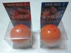 New Dragon Ball Z Hair Wax 2type 2pcs Set Made in Japan 5 Hard 3 Natural F/S