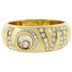 Pre-owned Chopard 18k Yellow Gold Happy Diamonds Love Ring (6 165 BGN) ❤ liked on Polyvore featuring jewelry, rings, accessories, yellow gold, diamond jewelry, 18 karat gold jewelry, gold jewelry, 18k gold jewelry and gold diamond jewelry