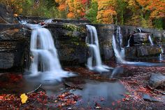 Autumn Water Falls by Al Juniarsam  - Ozark National Forest, Arkansas, United States