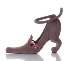 This shoe is strictly for you dog lovers. Miao and Blow Pump shoes by Kobi Levi.