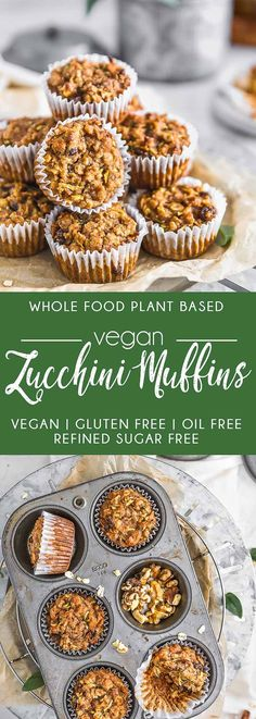 DELICIOUS Vegan Zucchini Muffins! Healthy and utterly delicious, you can be assured that these beauties are packed with flavor! #vegan #plantbased #zucchini #refinedsugarfree #glutenfree #oilfree #healthy #healthyvegan #monkeyandmekitchenadventures #recipe