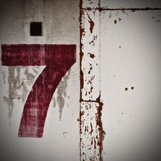 Red and white Seven Logo, Color Bordo, Lucky 7, Lucky Number, Minimal Photography, Letters And Numbers, Door Numbers, Getting Organized, Typography