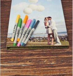 Guest book idea for wedding. Have everybody sign it!