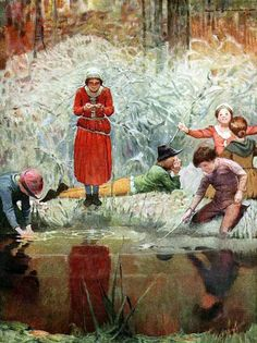"The Gooseberry Spring. Illustration by Frank E. Schoonover from ""Joan of Arc"" (1918)"