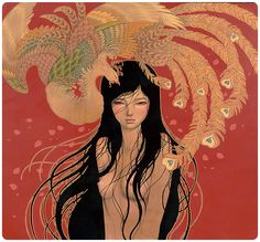 "Audrey Kawasaki's ""Hirari Hirari."" Above are all... - SUPERSONIC ART"