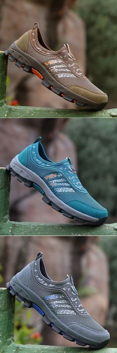 e2079001f3 US$39.79 Men Mesh Textile Slip Resistant Outdoor Hiking Shoes#hiking  #climbing #style