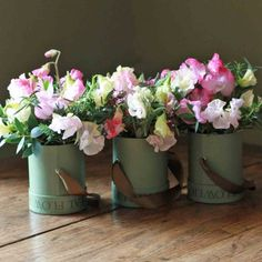 The Real Flower Company Sweet Pea Trio