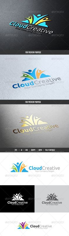Cloud Creative — Vector EPS #smile #kids • Available here → https://graphicriver.net/item/cloud-creative/6084528?ref=pxcr