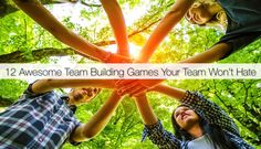 These 12 team-building games help any team learn about each other — how each person thinks, works, solves problems, and has fun. Fun Team Building Activities, Youth Group Activities, Team Building Exercises, Bonding Activities, Physical Activities, Teambuilding Activities, Team Builders, Team Bonding, Neuer Job