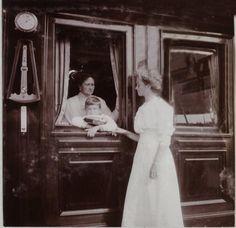 The Empress, Crown Prince Alexei and VK Olga.