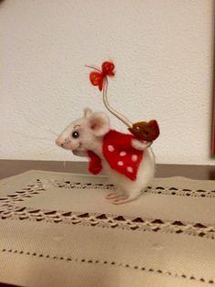 Nadel Felted Maus, Nadel Filz-Tiere, Nadel Filz Mäuse, Mäuse Gift, Mäuse Decor…