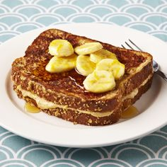 Peanut Butter Banana French Toast. Stuff your French toast with an irresistible blend of cream cheese, peanut butter, maple syrup and more for a decadent start to your day – one serving is just 322 calories!