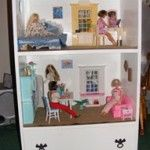 Doll house made from old dresser